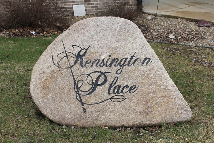 Kensington Place rock sign